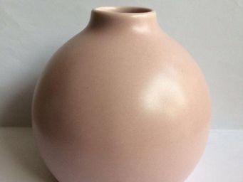 Drake - vase boule rose pour diffuseur de parfum - Vase À Fleurs
