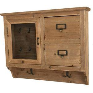 CHEMIN DE CAMPAGNE - meuble d'entrée boîte à clé clef avec tiroir bois - Armoire À Clefs
