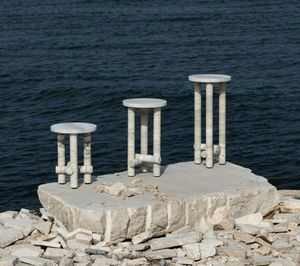 CLEMENT BRAZILLE - ocean travertine - Table D'appoint