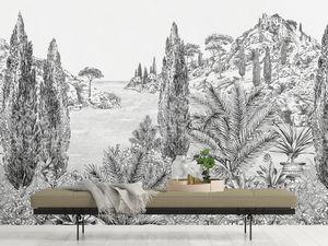 ISIDORE LEROY - cyprès - Papier Peint