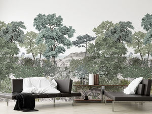 ISIDORE LEROY - forêt de bretagne grise - Papier Peint Panoramique