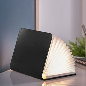 Gingko - smart booklight - lampe cuir noir 21 cm - Lampe À Poser