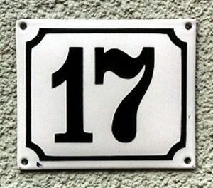 Replicata - emaille-hausnummer - Numéro De Porte
