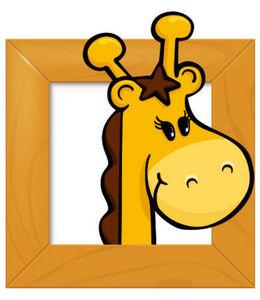 DECOLOOPIO - tableau girafe - Sticker Décor Adhésif Enfant