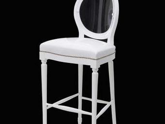 Etc Creations - chaise bar duoskai blanche - Chaise Haute De Bar