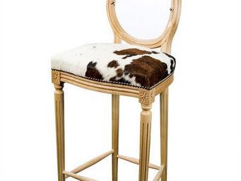 Etc Creations - chaise de bar duo veritable peau - Chaise Haute De Bar