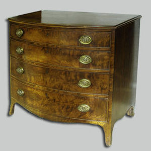 ANTHEMION - commode en acajou - Commode