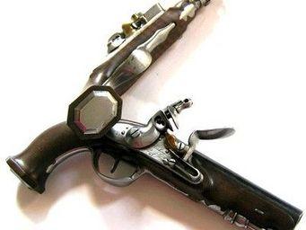 Bernard Bruel expertise - paire de pistolets d'officier d'infanter - Pistolet Et Révolver