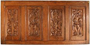 Antoine BOCCADOR - panneau de dressoir, ch�ne sculpt�, xvie - Panneau D�coratif
