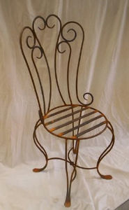 Le fer forgé -  - Chaise