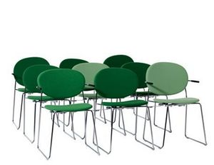 Swedese - olive stackable armchair - Si�ge De Conf�rence