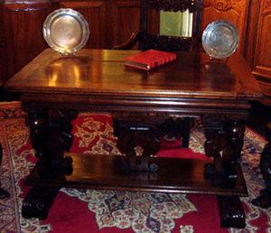 Grand Papa Antiquites - table de milieu - Table Bureau