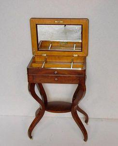 Baron Antiquités - table à ouvrage - Table À Abattant