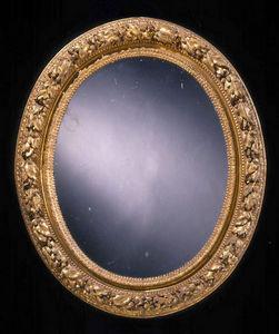 ARNOLD WIGGINS & SONS - miroir du xviiième en bois sculpté doré - Miroir