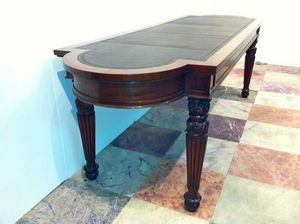 3details - regency mahogany library table by william trotter - Table De Conférence