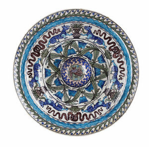 SYLVIA POWELL DECORATIVE ARTS - large merton abbey period faience charger - Assiette De Présentation