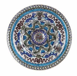SYLVIA POWELL DECORATIVE ARTS - large merton abbey period faience charger - Assiette De Présentation