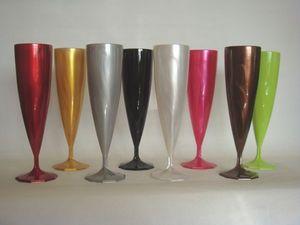 Adiserve - flûtes couleur nacrée par 10, 11 coloris - Verre Jetable