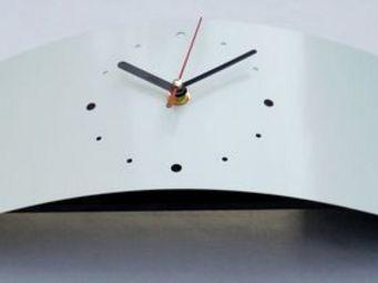 L'HEURE DU DESIGN - horloge design neptune blanche - Horloge � Poser