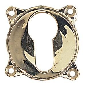 FERRURES ET PATINES - entree de clef en bronze - trou de cylindre - pour - Entrée De Clef