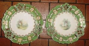Art & Antiques - service à gâteaux fin xviiie - Assiette Décorative