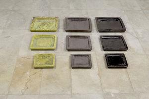 HERITAGE ARTISANAT - soucoupe carré - Dessous De Pot De Jardin