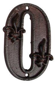BEST FOR BOOTS - numéro de maison en fonte 0 11,4x7x1cm - Numéro De Porte