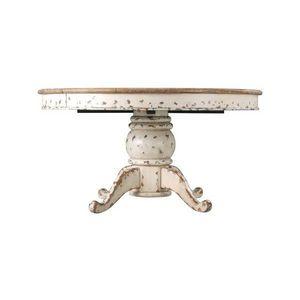 DECO PRIVE - table de salle a manger ronde a rallonge en bois b - Table De Repas Ronde