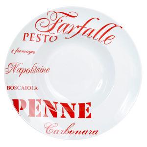 Maisons du monde - assiette pasta rouge - Assiette À Spaghetti
