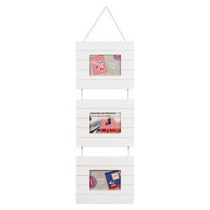 Maisons du monde - cadre triple blanc bois latte - Cadre Triptyque