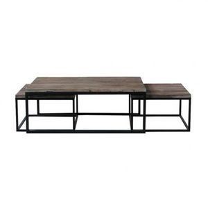 Maisons du monde - set de 3 tables basses long island - Tables Gigognes