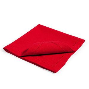 MAISONS DU MONDE - serviettes unies rouge - Serviette De Table