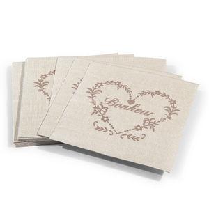 Maisons du monde - serviette bonheur - Serviette En Papier