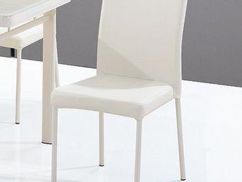 CLEAR SEAT - chaises luna blanc crème lot de 6 - Chaise Visiteur