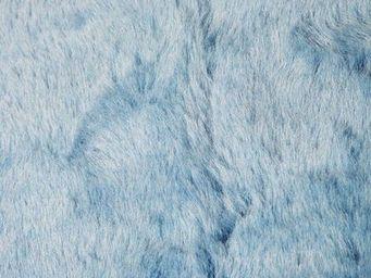 Pilepoil : Fausse Fourrure - tapis étoile bleu corsaire - Fourrure D'imitation