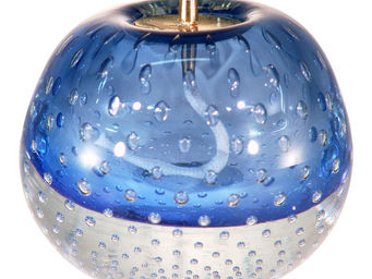 LE SOUFFLE DE VERRE - lampe � huile en verre souffl� middle bleu - Lampe � Huile