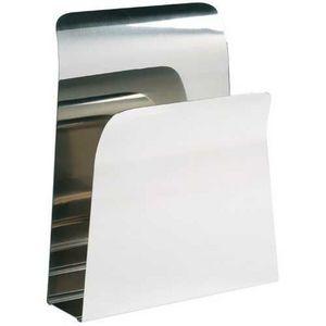 La Chaise Longue - porte-magazines design en acier chrom� 25x7x30cm - Range Revues