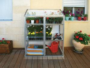 Chalet & Jardin - serre de terrasse 0,6m� avec �tag�res en polycarbo - Mini Serre