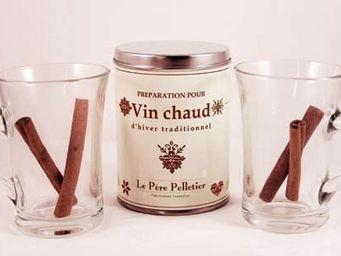 Le Pere Pelletier - coffret vin chaud traditionnel avec 2 tasses 24x20 - Gobelet