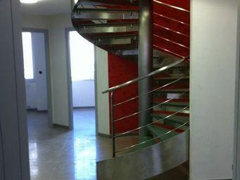 TRESCALINI - hurricane : escalier colima�on inox et verre - Escalier H�lico�dal