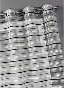 HOMEMAISON.COM - voilage organza tiss� rayures chenilles horizontal - Voilage