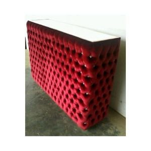DECO PRIVE - bar en velours rouge capitonne et strass - Meuble Bar