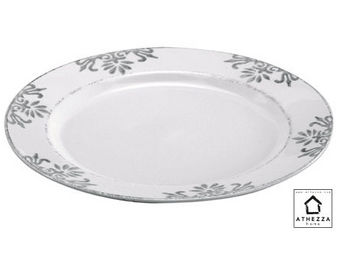 Athezza Home - ass. plate louisa gris d27cm - Assiette Plate