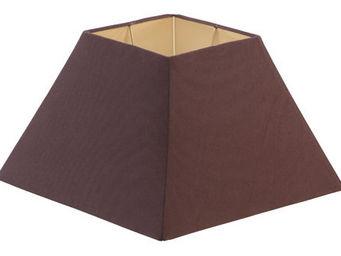 Athezza - abj jute chocolat 20x40xh25cm - Abat Jour