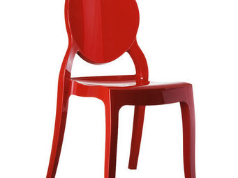 Alterego-Design - chaise design 'eliza' rouge en technopolym�re - Chaise M�daillon