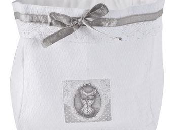 Mathilde M - grande pani�re esprit lingerie - Pochette Avec Cordon