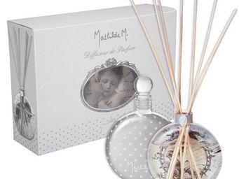 Mathilde M - diffuseur verre souffl� m�lodie, parfum clair de l - Diffuseur De Parfum