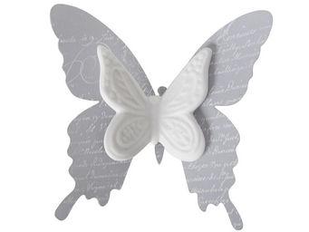 Mathilde M - papillon biscuit � pince roses - D�cor �v�nementiel