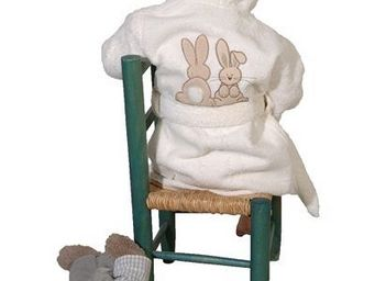 SIRETEX - SENSEI - peignoir enfant brodé pompon le lapin - Peignoir Enfant