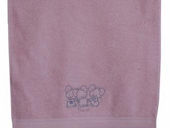 SIRETEX - SENSEI - drap de douche enfant 70x140cm 3 souris roses - Drap De Bain Enfant